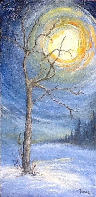 """Whispers of a Starry Night"" original fine art by Maureen Bowie"