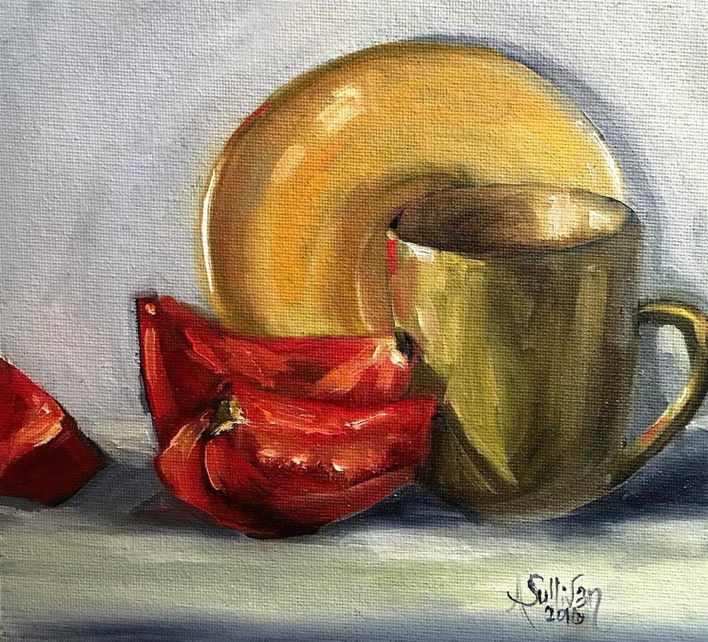 """I Will Have Tomatoes For Breakfast still life by Alabama Artist Angela Sullivan"" original fine art by Angela Sullivan"