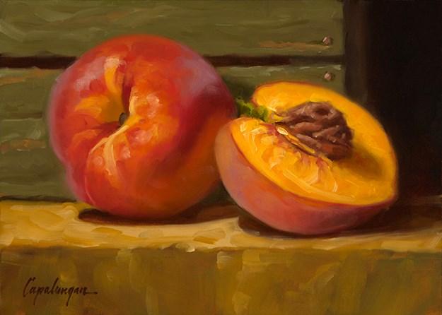 """Just Peachy"" original fine art by David Capalungan"