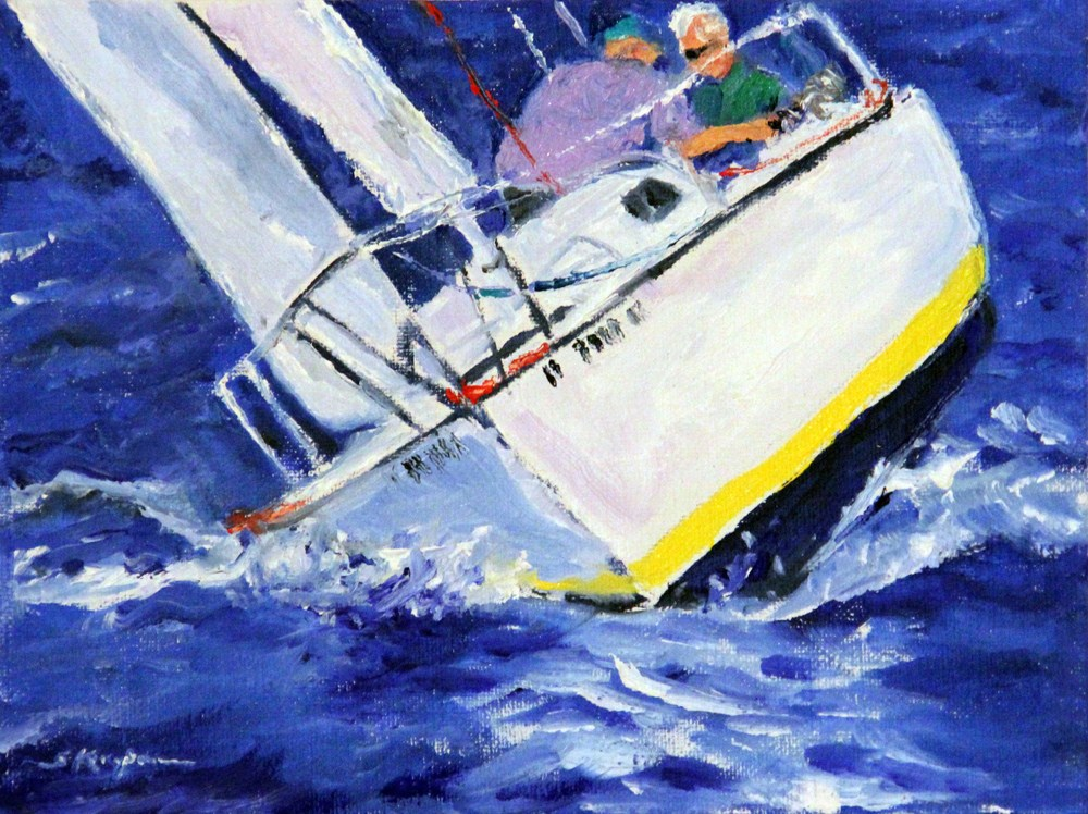 """Racing in the Wind"" original fine art by Shelley Koopmann"