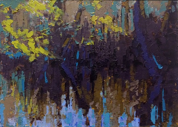 """Cedar Creek Reflections, Congaree"" original fine art by Mary Gilkerson"
