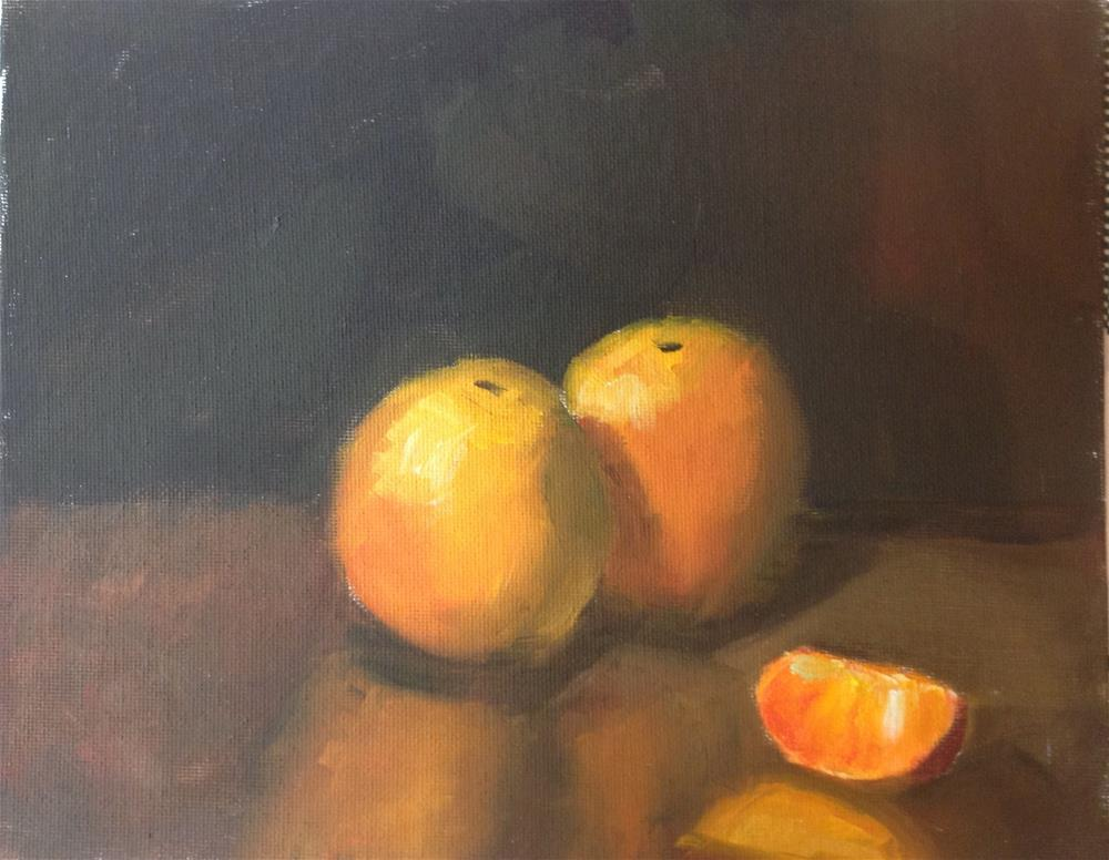 """Oranges"" original fine art by Marcia Bergtholdt"