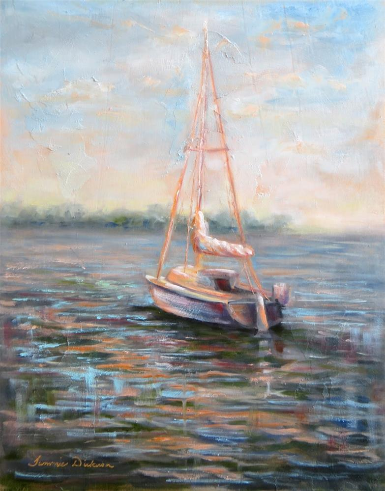 """Out to Sail"" original fine art by Tammie Dickerson"