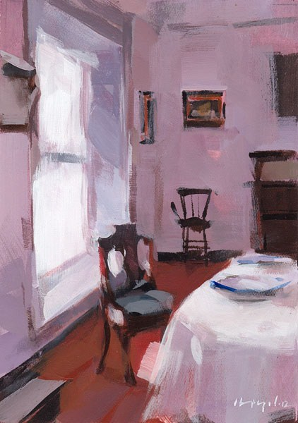 """Violet - Quick Study"" original fine art by David Lloyd"