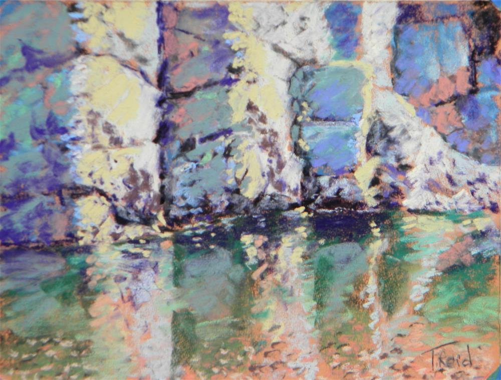 """""""Rock wall reflections"""" original fine art by Toby Reid"""