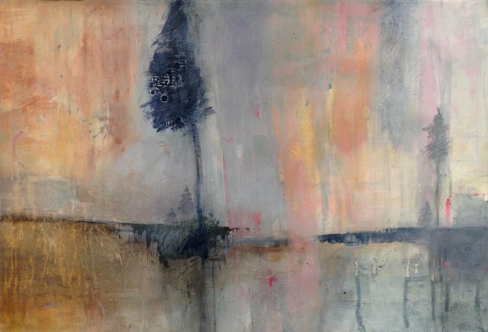 """Northern Lights"" original fine art by Lee Muslin"