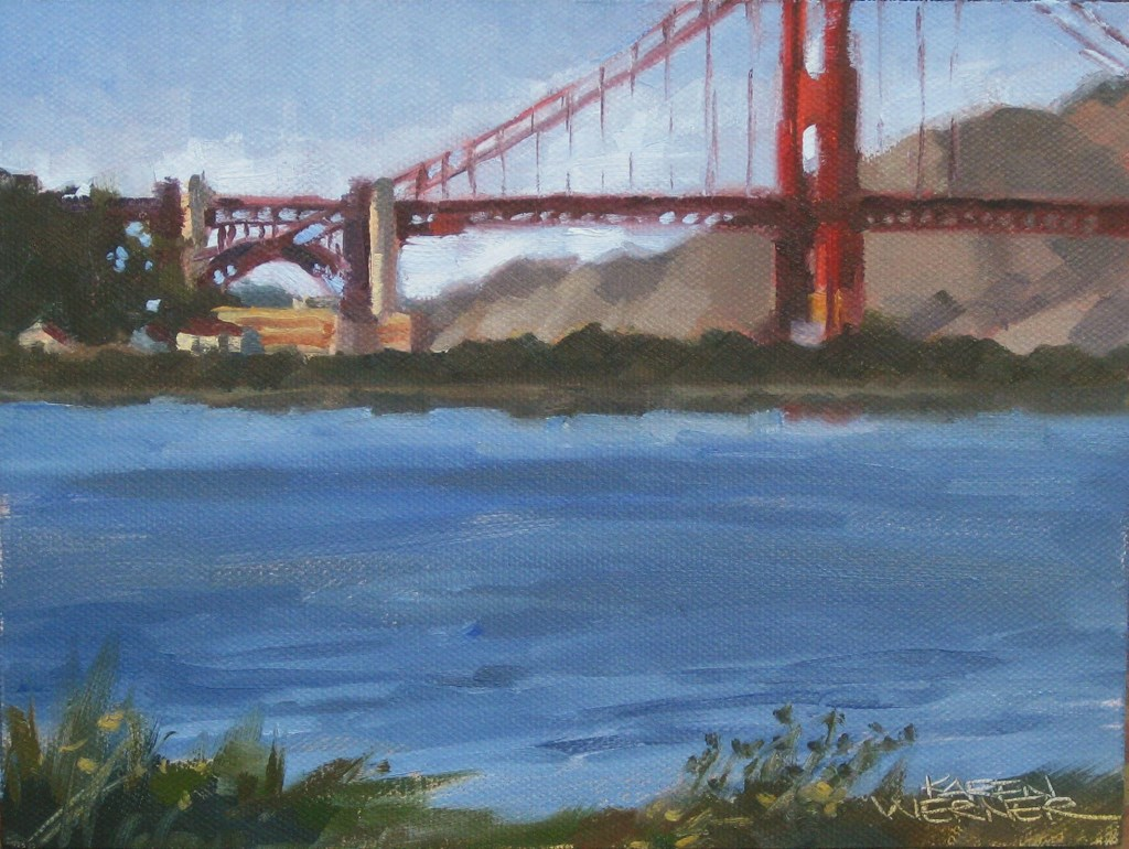 """Bridge View"" original fine art by Karen Werner"