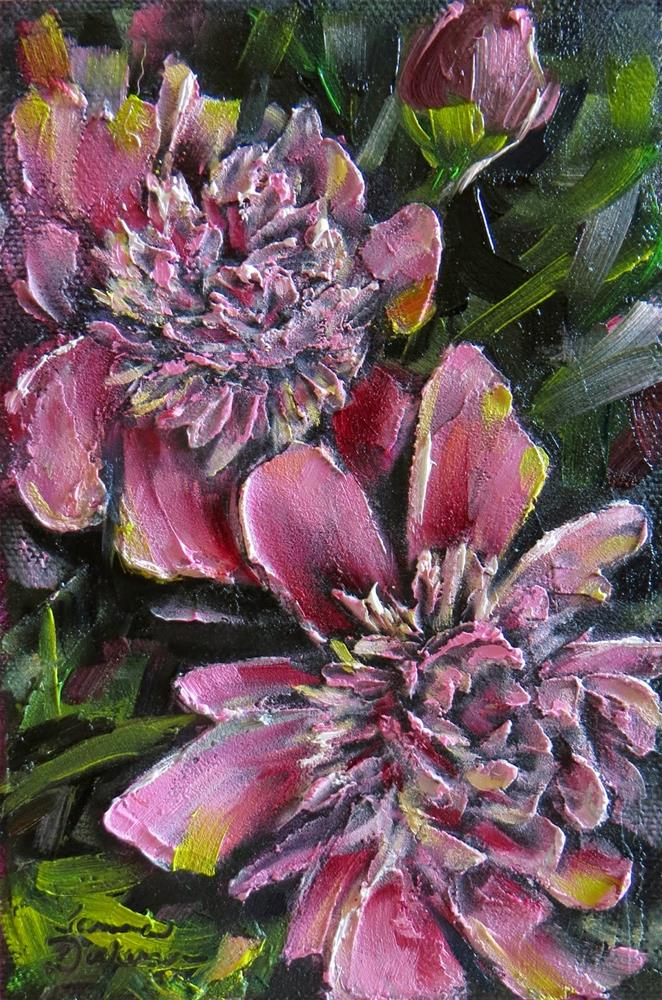 """Dimensional Peonies"" original fine art by Tammie Dickerson"
