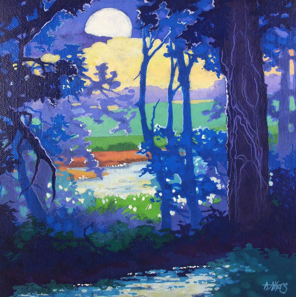 """An Early Moon Moorcroft Musings Series"" original fine art by Alida Akers"