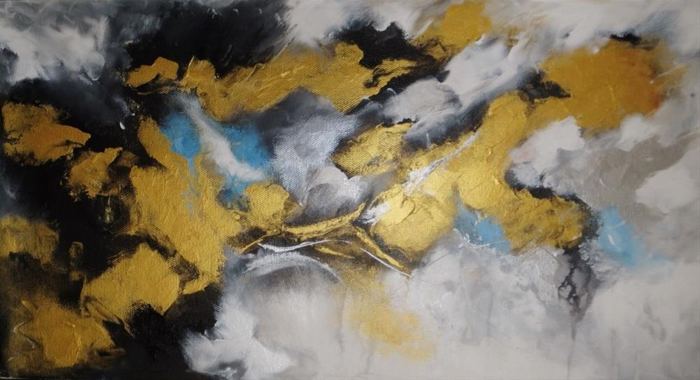 """Infinity (Black and gold)"" original fine art by Astrid Buchhammer"