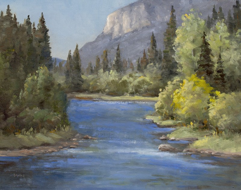 """Upper Poudre River"" original fine art by Bonnie Bowne"