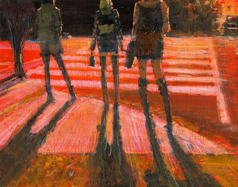 """Street Life"" original fine art by Adebanji Alade"