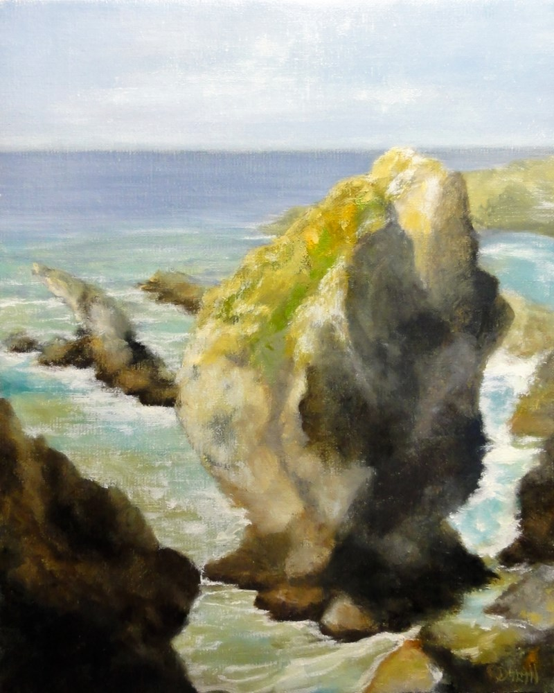 """California Coast Plein Air"" original fine art by Dalan Wells"
