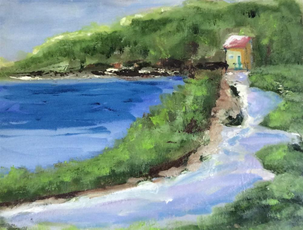 """Fishing Shack"" original fine art by Patty Barnes"