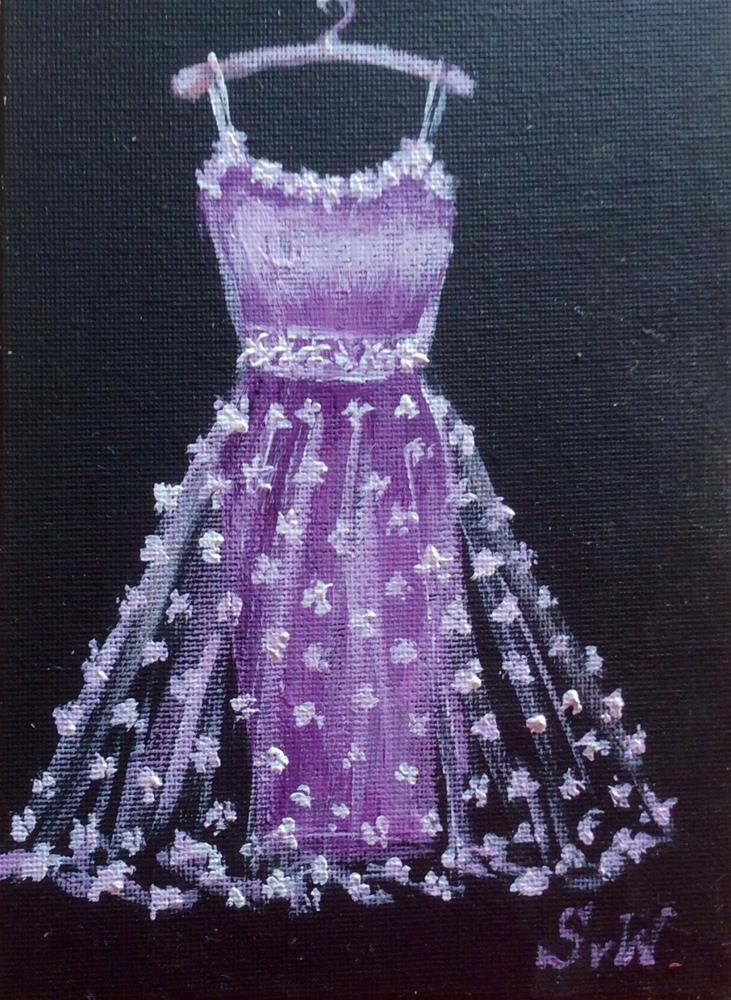 """Lilacs Dress"" original fine art by Sonia von Walter"