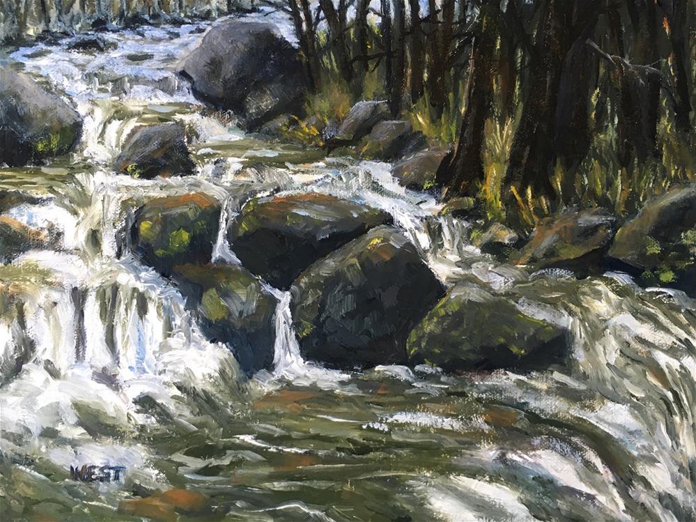 """Alpine Trout Stream"" original fine art by James West"