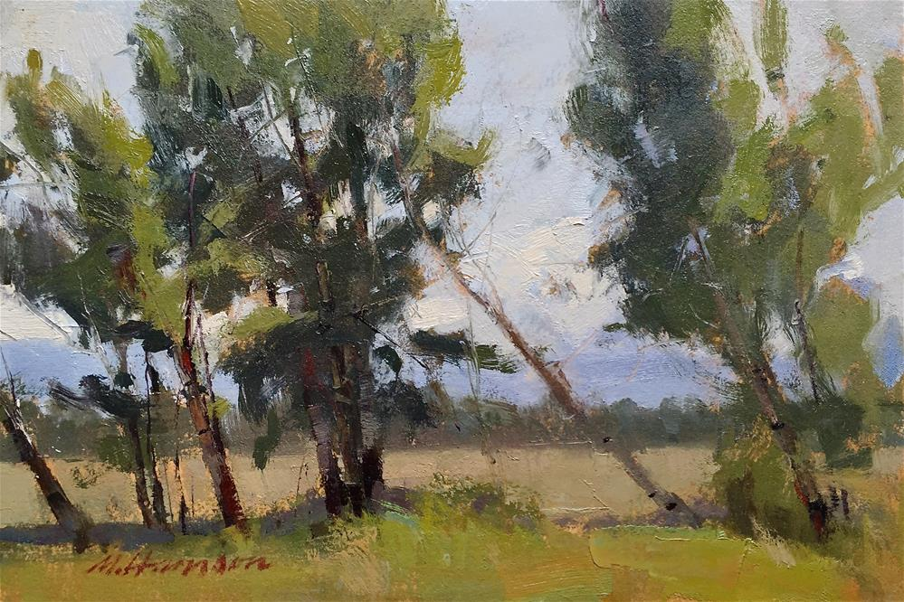 """""""Leanin' Trees"""" original fine art by Marc Hanson"""