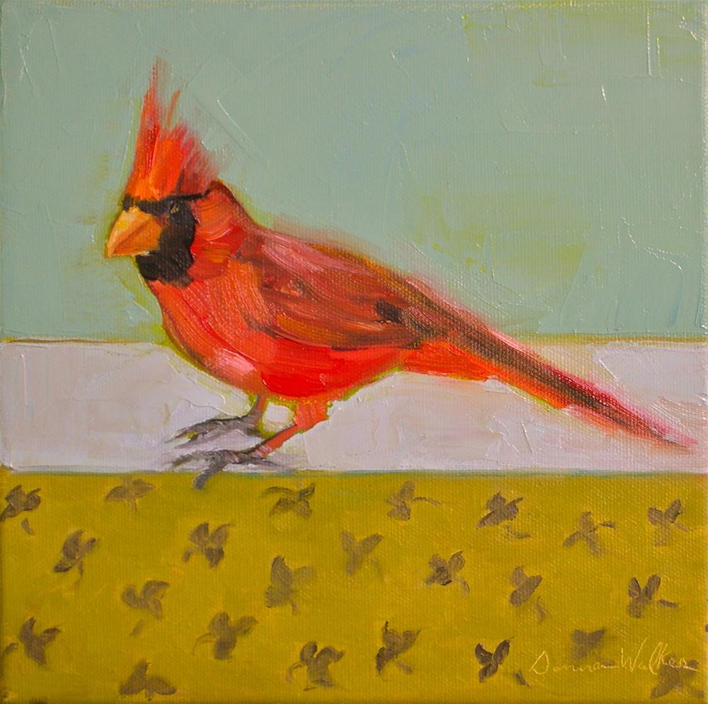 """Cardinal II"" original fine art by Donna Walker"