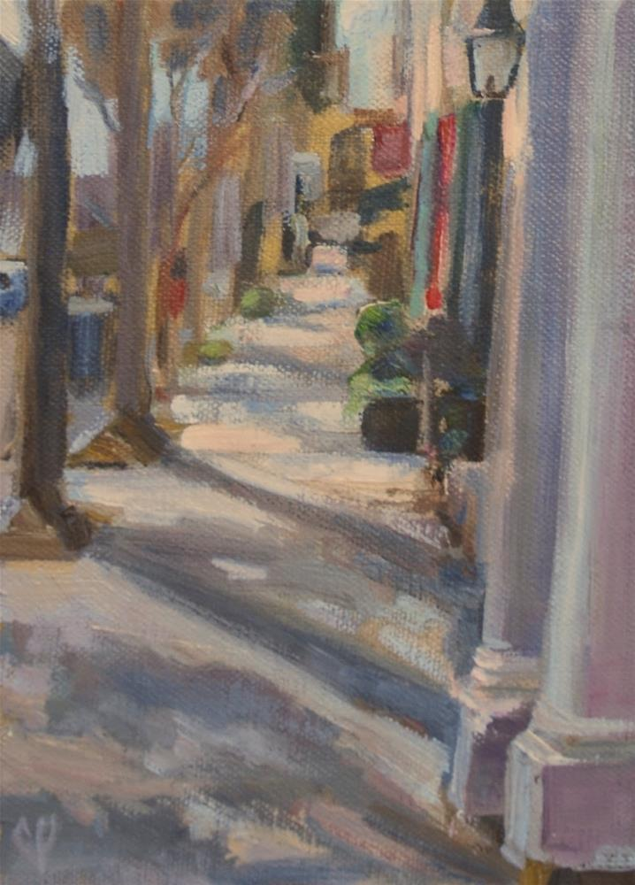 """Charelston, South Carolina street scene, Original oil by Carol DeMumbrum"" original fine art by Carol DeMumbrum"