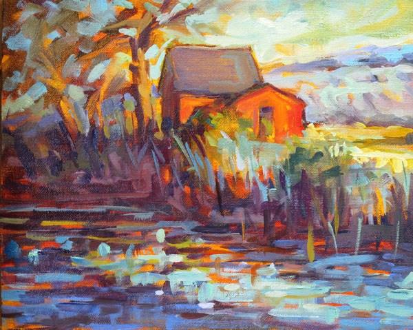 """Hollis Ice House"" original fine art by Karen Bruson"