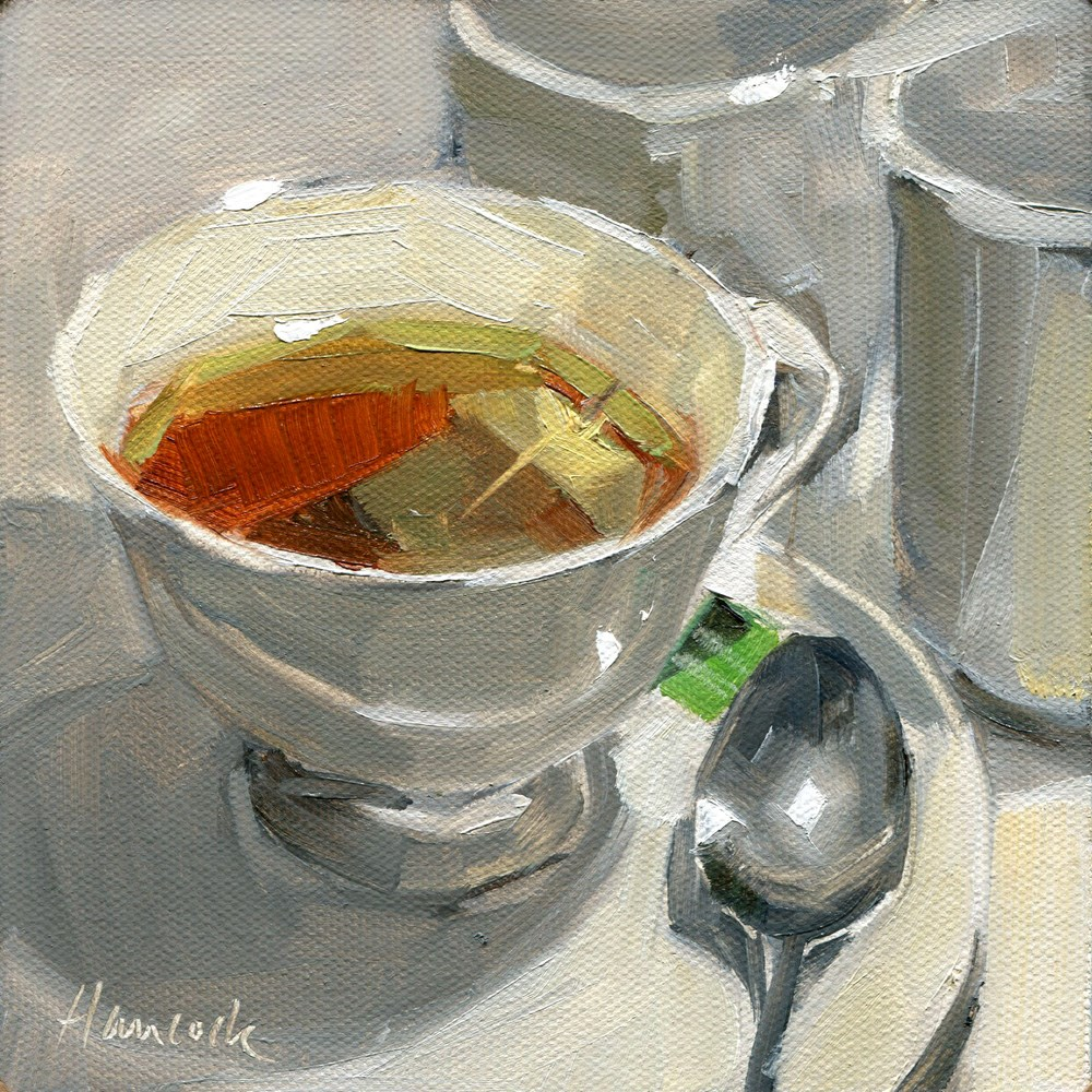 """Cup of Tea"" original fine art by Gretchen Hancock"