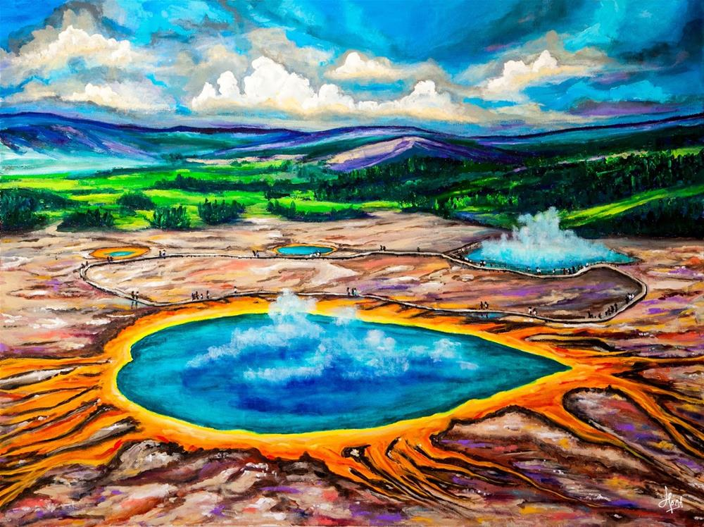 """Grand Prismatic - An Acrylic Painting"" original fine art by Hema Sukumar"
