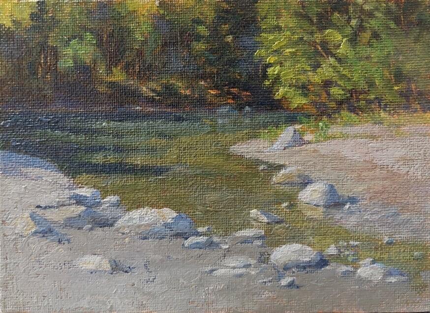 """Mendenhall Stream"" original fine art by Christine Lewis"