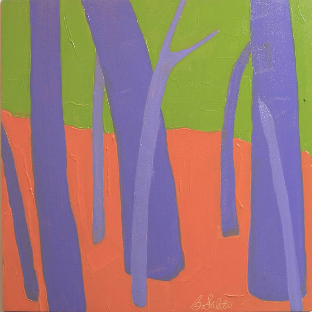 """trees without leaves I - variation 15"" original fine art by Barb Saletri"