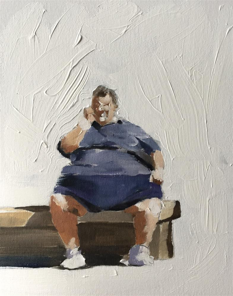 """Big Man"" original fine art by James Coates"