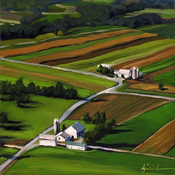 """High Over Pennsylvania"" original fine art by Karin Jurick"