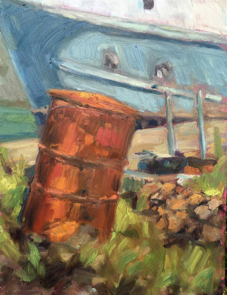 """The Rusty Bin"" original fine art by Allison Doke"