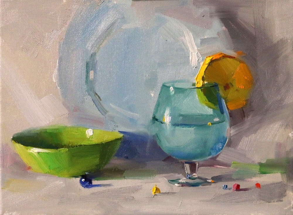 """""""Demo at Springfield 3 --- Sold"""" original fine art by Qiang Huang"""