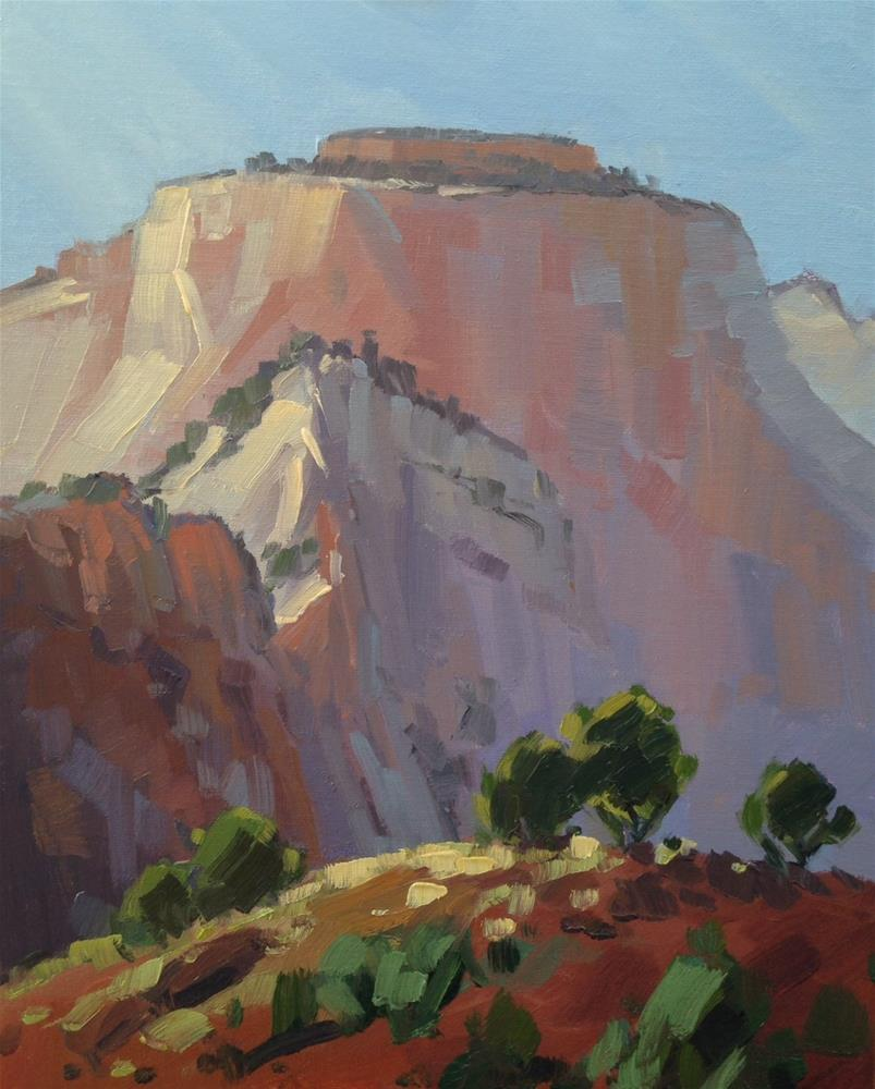 """West Temple - Zion National Park"" original fine art by Mary Jabens"