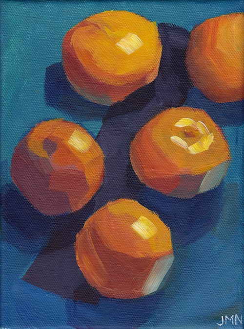 """Clementines: Queue"" original fine art by J M Needham"
