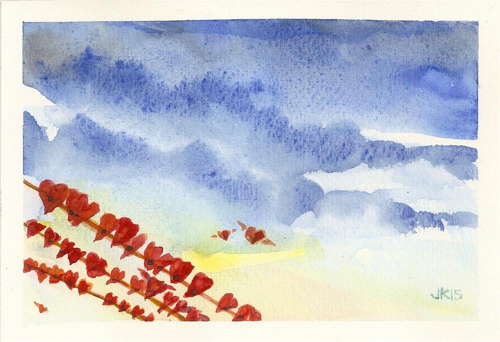 """""""Hearts on the Wire"""" original fine art by Jean Krueger"""