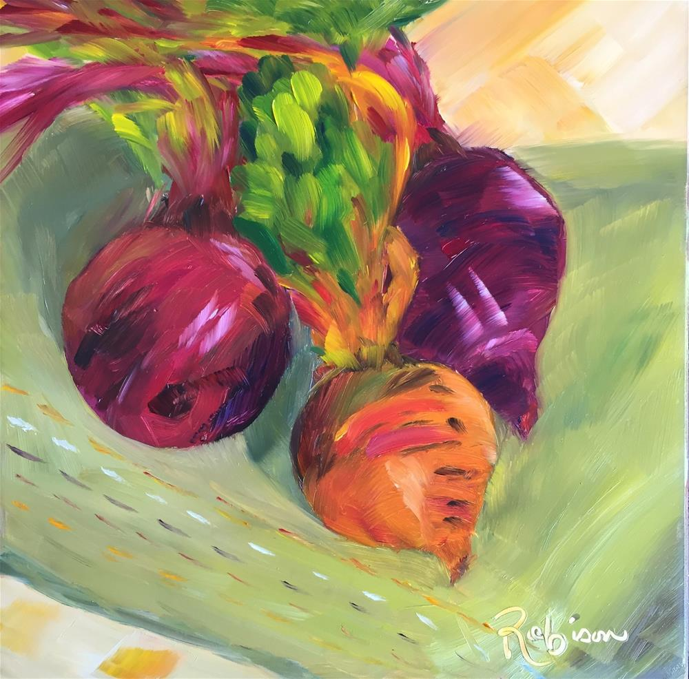 """Three beets are better than one."" original fine art by Renee Robison"