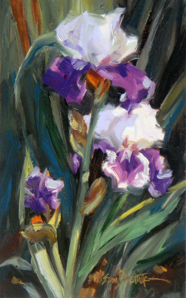 """Screaming Purple Passion"" original fine art by Erin Dertner"