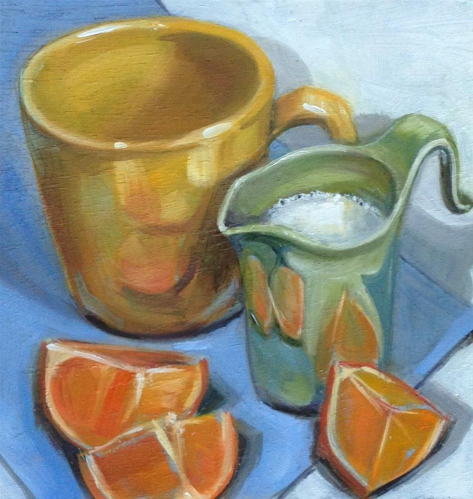 """Oranges Reflected"" original fine art by Beth Moreau"