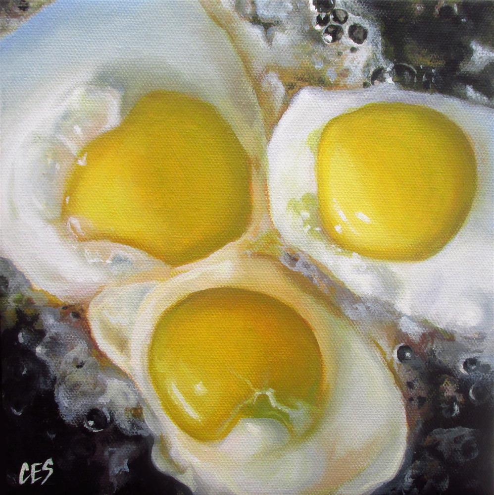 """Fried Eggs"" original fine art by ~ces~ Christine E. S. Code"