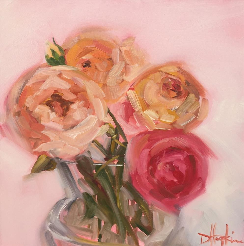 """""""John's Roses"""" original fine art by Denise Hopkins"""