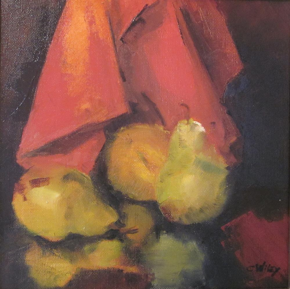 """Pear  Reflection"" original fine art by Carol Wiley"