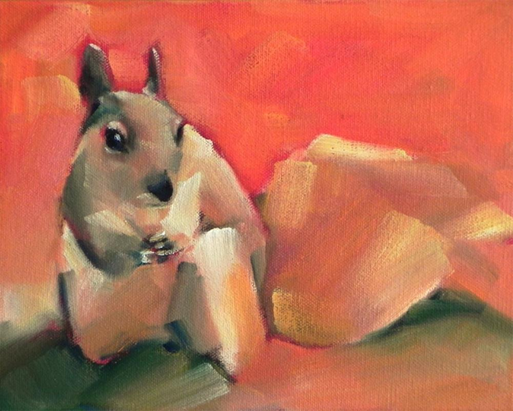 """""""Squirrel"""" original fine art by Cheryl Wilson"""