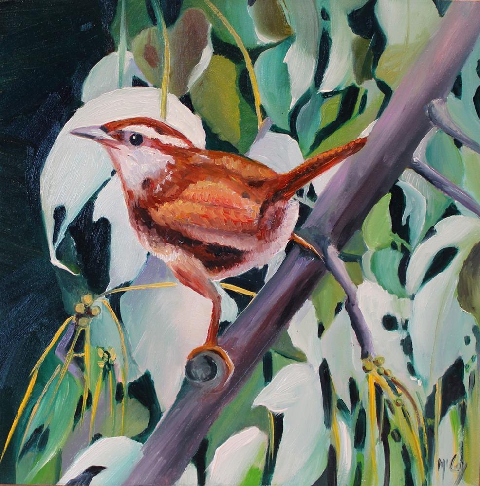 """Wren Will it End,"" original fine art by Linda McCoy"