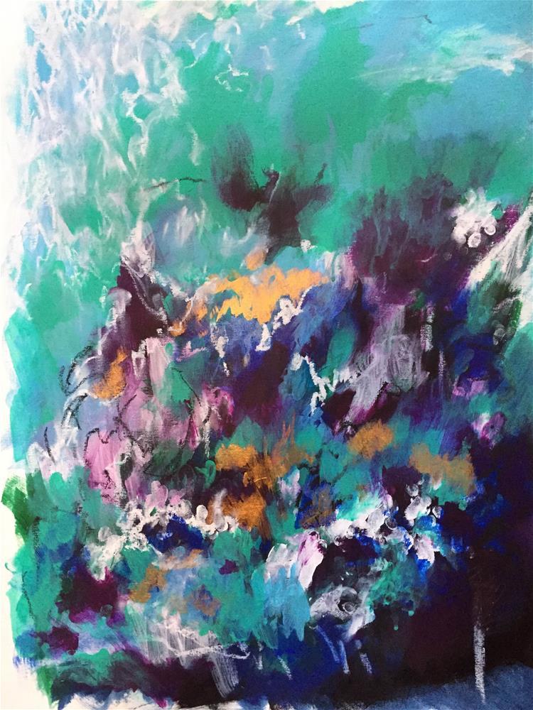 """Indigo #3"" original fine art by Vy Ngo"