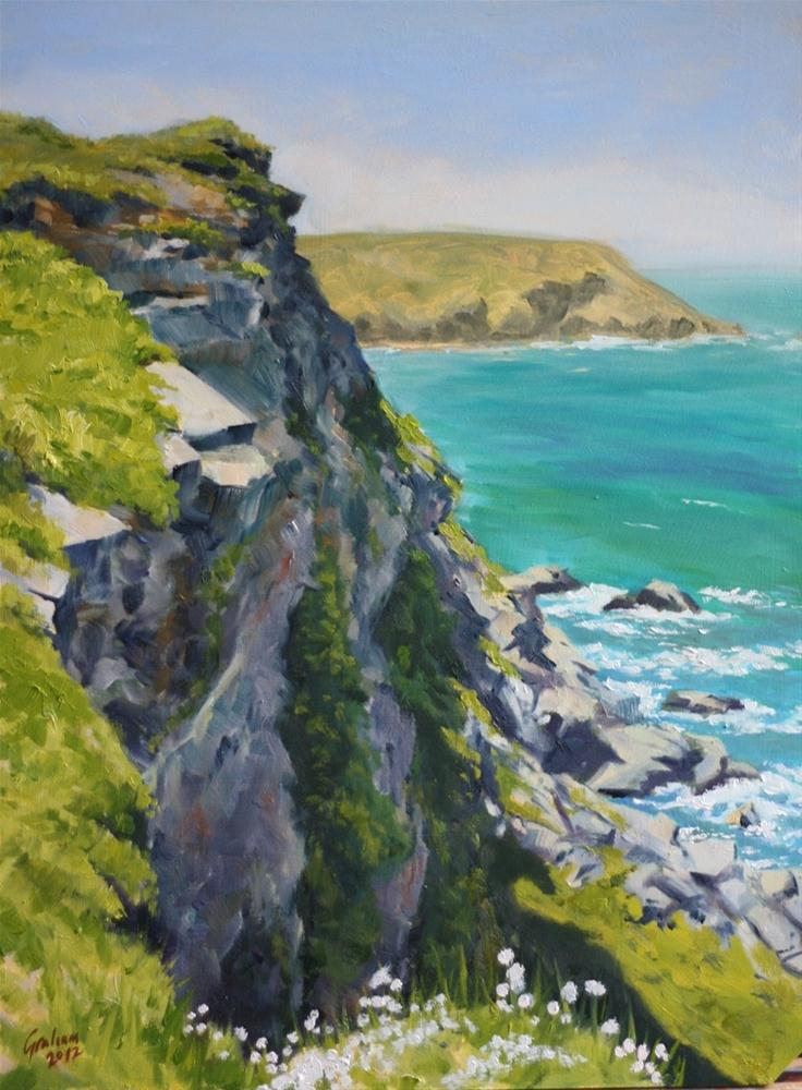 """Hell's Mouth, Cornwall."" original fine art by Graham Townsend"