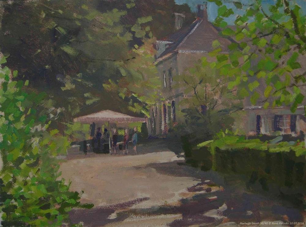 """Landgoed Poelwijk. Gendt, The Netherlands"" original fine art by René PleinAir"