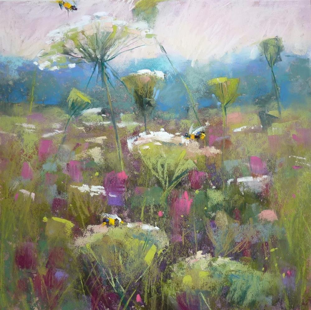 """IAPS 2015.....How to Paint Wildflowers in the Landscape demo preview"" original fine art by Karen Margulis"