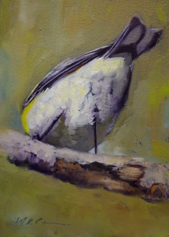 """Bottoms Up"" original fine art by Marilyn R. Place"