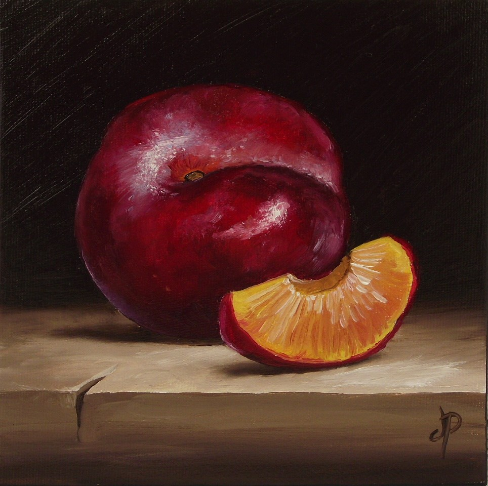 """Plum"" original fine art by Jane Palmer"