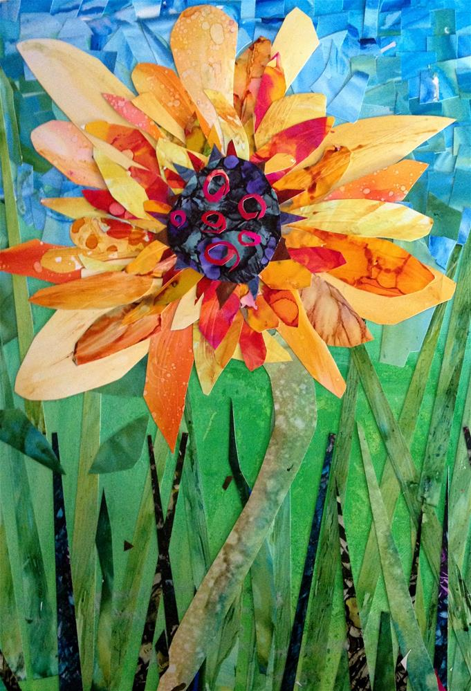 """Sunflower"" original fine art by Kristen Dukat"